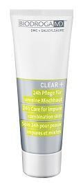 CLEAR +24H CARE FOR IMPURE COMBINATION SKIN – Krem do skóry mieszanej, zanieczyszczonej. nr. ref. 43622. Opakowanie 75ml.