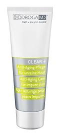 CLEAR + ANTI-AGING CARE FOR IMPURE SKIN – Krem przeciwstarzeniowy do skóry zanieczyszczonej. nr. ref. 43628. Opakowanie 75ml.